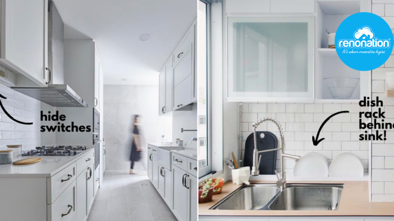 Where to Put the Dish Rack, Rubbish Bin and Other Eyesores in the Kitchen